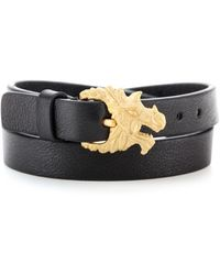 Valentino Dragon Leather Wrap Bracelet - Lyst
