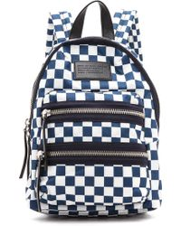 Marc By Marc Jacobs - Domo Arigato Chequered Mini Packrat Backpack - Deep Blue Multi - Lyst