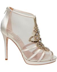 Badgley Mischka Lianna Fabric Crystal Heels - Lyst