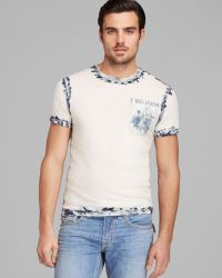 True Religion Short Sleeve Indigo Crew Neck Tee - Lyst