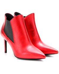 Saint Laurent Paris Leather Ankle Boots - Lyst