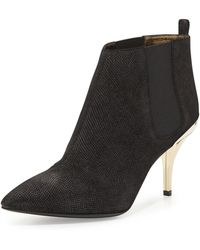 Lanvin Lizardembossed Ankle Boot - Lyst