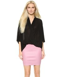 Helmut Lang Asymmetrical Top - Black - Lyst