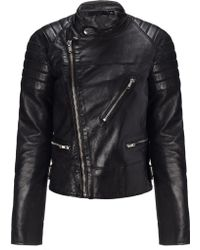 BLK DNM Black Leather Jacket 22 - Lyst