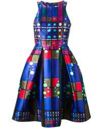 Peter Pilotto Mikado Circle Silk Dress - Lyst