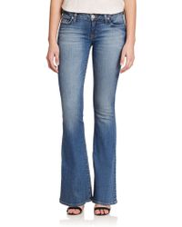 Hudson Mia Mid-Rise Flared Jeans blue - Lyst