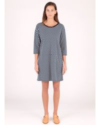 Banana Republic Gemma Geoprint Wrap Dress In Blue