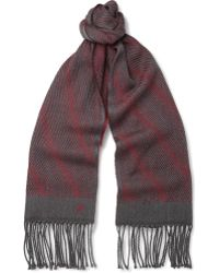 Canali Patterned Woven-wool Scarf - Lyst