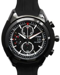 Citizen Watch Black Resin Strap Black Face - Lyst