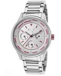 PUMA - Women's Silver-tone Stainless Steel Silver-tone Textured Dial - Lyst