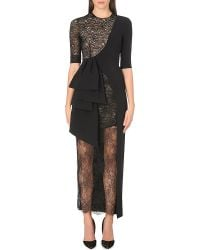 Alessandra Rich Lace Drape Long-length Gown - Lyst