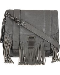 Proenza Schouler Leather Fringed Satchel Bag - Lyst