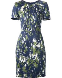 Jason Wu Abstract-Print Fitted Dress - Lyst