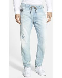 Diesel 'Krooley - Jogg Jeans' Slim Tapered Fit Jeans - Lyst