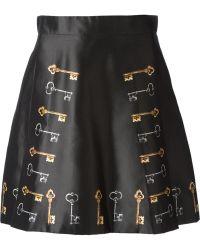 Dolce & Gabbana Key Print Skirt - Lyst