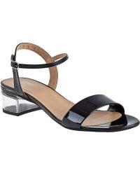Sesto Meucci For Jildor Akela Ankle Strap Sandal Black Patent - Lyst