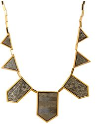 House Of Harlow Necklace Longcollar Engraved Classic Station - Lyst