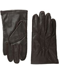 Original Penguin Brown Leather Gloves - Lyst