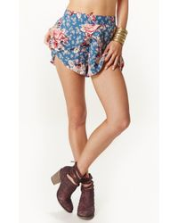 Free People Printed Crossover Short - Lyst