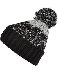 River Island Navy Blue Colour Block Beanie Hat - Lyst