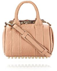 Alexander Wang Mini Rockie In Pebbled Blush With Pale Gold - Lyst