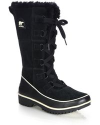 Sorel | Tivoli High Ii Suede, Leather & Faux Fur All-weather Boots | Lyst