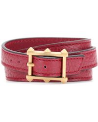 Valentino Gryphon Leather Wrap Bracelet - Lyst