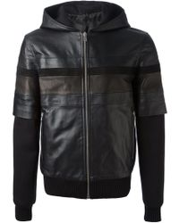 Givenchy Black Hooded Jacket - Lyst