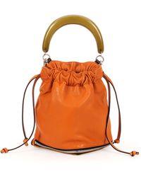 Marni Small Expandable Zip Satchel Bag - Lyst