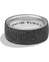 David Yurman Band Ring with Bronze Lightning Strike Carbon Fiber - Lyst