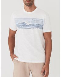 Faherty Brand - Location Wave Print Tee - Lyst