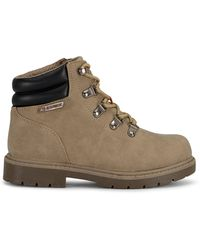 Lugz Lynnwood Mid Top Lace Up Boots - Brown