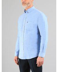 Farah - Cookson Long Sleeve Oxford Shirt - Lyst