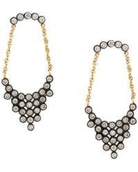 Yannis Sergakis | Diamond And Chain Drop Earrings | Lyst