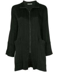 Issey Miyake - Pleated Long Jacket - Lyst