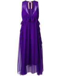 N°21 - Sleeveless Flared Midi Dress - Lyst