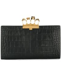Alexander McQueen - Embossed Leather Knuckle Clutch - Lyst