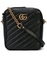 Lyst - Gucci GG Marmont Small Matelassé Shoulder Bag in Black - Save 24% 0debe8a9e98e9