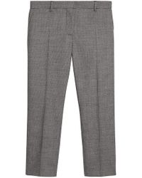 Burberry - Houndstooth Check Wool Cropped Tailored Trousers - Lyst