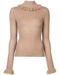 Jill Stuart - Ruffled Collar Knit Sweater - Lyst