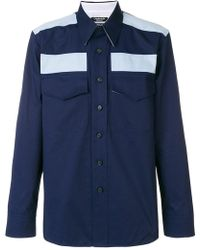 CALVIN KLEIN 205W39NYC - Colour-block Fitted Shirt - Lyst