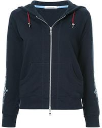 Guild Prime - Floral-embroidered Zip-up Hoodie - Lyst