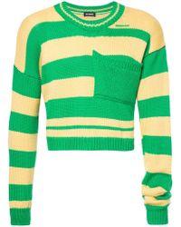 Raf Simons - Cropped Stripe Sweater - Lyst