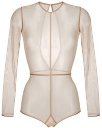 Ann Demeulemeester - Long Sleeve Sheer Body - Lyst