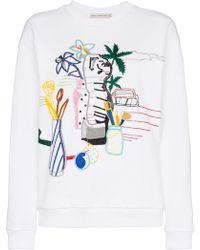 Mary Katrantzou - Saker Bead Embroidered Cotton Sweatshirt - Lyst