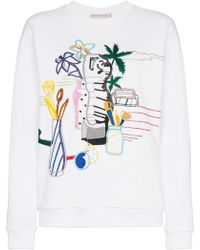 Mary Katrantzou - Saker Bead Embroidered Cotton Sweatshirt - Lyst