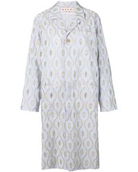 Marni - Embroidered Long Coat - Lyst