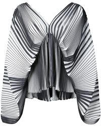 TOME - Striped Flared Blouse - Lyst