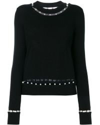 Givenchy - Faux Pearl Trim Jumper - Lyst