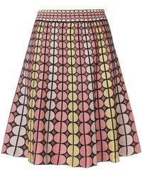 M Missoni   Geometric Pattern Stitched Skirt   Lyst